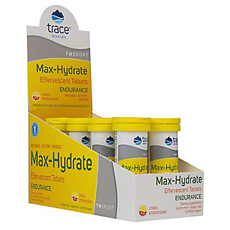 Trace Minerals Citrus Max-hydrate Endurance Effervescent Box, 8 ct