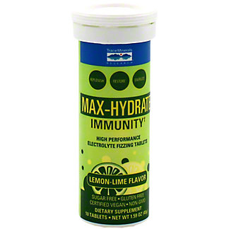 Trace Minerals Max Hydrate Immunity Lemon Lime Tablets, 10 ct
