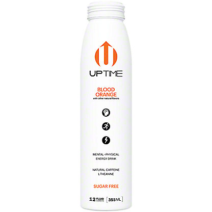 UPTIME Blood Orange Sugar Free Energy Drink, 12 oz
