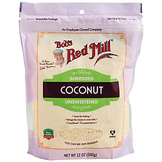 Bob's Red Mill Shredded Unsweetened Coconut, 12 oz