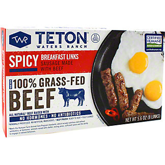 Teton Waters Ranch Sausage Spicy Breakfast, 5.6 oz