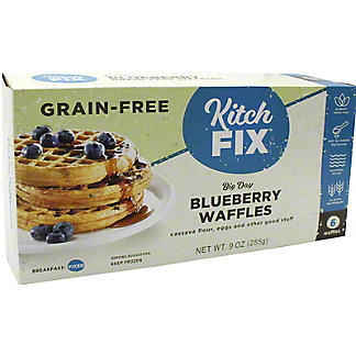 Kitchfix Grain-Free Blueberry Maple Waffles, 6 ct