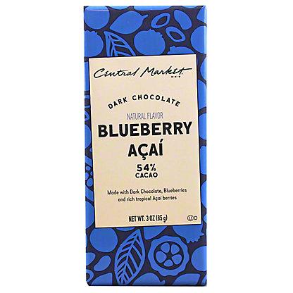 Central Market Blueberry Acai Dark ChocolateBar, 3 oz