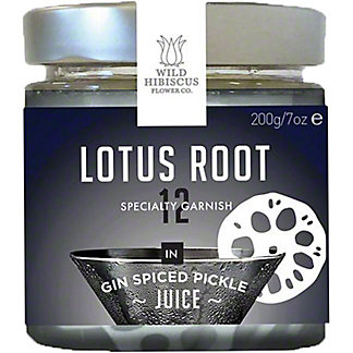 Wild Hibiscus Flower Co Lotus Root in Gin Spiced PickleJuice, 7 oz