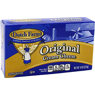 Dutch Farms Original Cream Cheese Bar, 8 oz