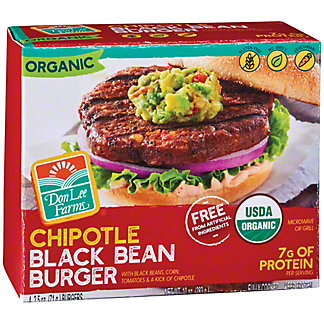 Don Lee Farms Organic Chipolte Black Bean Burger, 4 ct