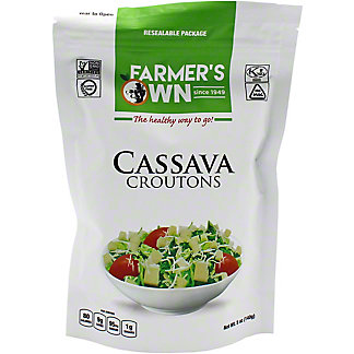 Farmers Own Farmers Own Cassava Croutons, 5 oz