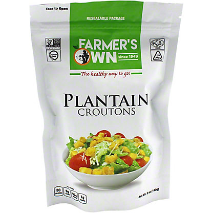 Farmers Own Farmers Own Plantain Croutons, 5 oz