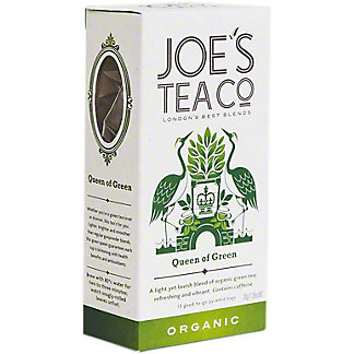 Joe's Tea Co. Organic Queen Of Green Tea, 15 ct