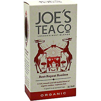 Joe's Tea Co. Organic Rest-Repeat Rooibos Tea, 15 ct