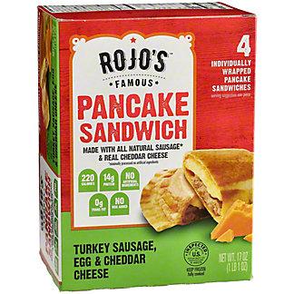 Rojo's Famous Turkey Sausage Egg Cheese Pancake Sandwiches, 4 ct