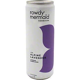 Rowdy Mermaid Kombucha Alpine Lavender , 12 oz