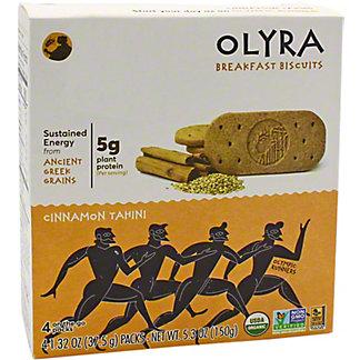 Olyra Olyra Breakfast Biscuit Cinnamon Tahini, 4 ea