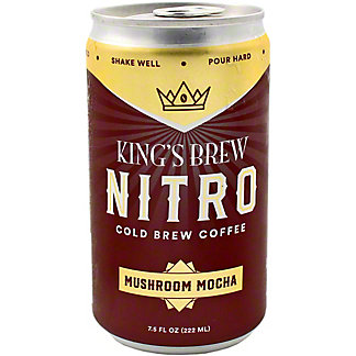 Kings Brew Coffee Cold Brew Mushroom Mocha, 7.5 oz