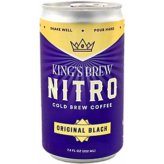 Kings Brew Coffee Cold Brew Black Organic, 7.5 oz