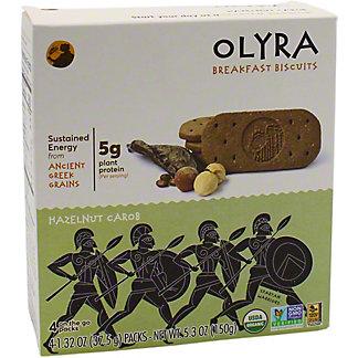 Olyra Olyra Breakfast Biscuit Organic Hazelnut, 4 ea