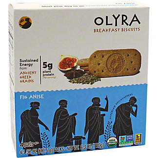 Olyra Olyra Breakfast Biscuit Fig Anise, 4 ea
