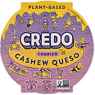 Credo Medium Cashew Queso Choriqueso  , 9 oz
