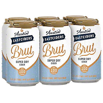 Austin Eastciders Brut Super Dry Cider, 6 pk, 12 fl oz ea