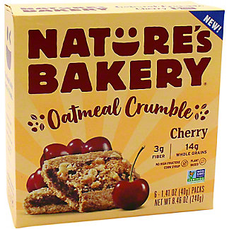 Natures Bakery Natures Bakery Oatmeal Crumble Cherry, 6 ct