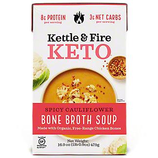 Kettle & Fire Spicy Cauliflower Soup with Chicken Bone Broth, 16.9 oz