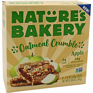 Natures Bakery Natures Bakery Oatmeal Crumble Apple, 6 ct