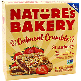 Natures Bakery Natures Bakery Oatmeal Crumble Strawberry, 6 ct