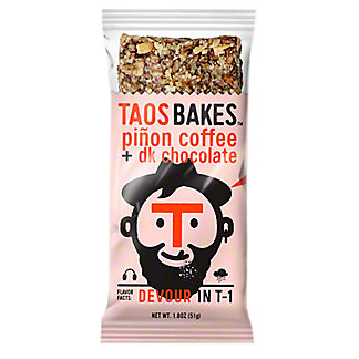 Taos Bakes Pinon Coffee & Dark Chocolate Bar, 1.8 oz