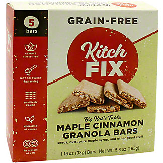Kitchfix Kitchfix Grain Free Maple Cinnamon Bars, 5 ct