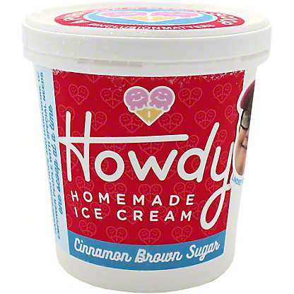 Howdy Homemade Cinnamon Brown Sugar Ice Cream, 16 oz