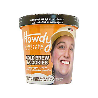 Howdy Homemade Coffee & Cookies Ice Cream, 16 oz