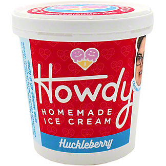 Howdy Homemade Huckleberry Ice Cream, 16 oz