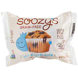 Soozy's Grain-Free Wild Blueberry Muffin , 2.25 oz