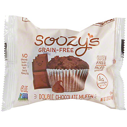 Soozy's Grain-Free Double Chocolate Muffin, 2.25 oz