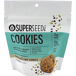 Superseed Well Chocolate Chip Cookies, 3 oz
