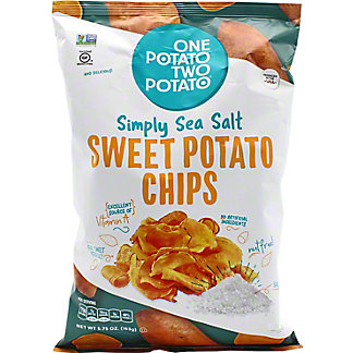 One Potato Two Potato One Potato Two Potato Sweet Potato Chips Sea Salt, 5.75 oz