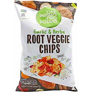 One Potato Two Potato One Potato Two Potato Root Veggie Chips Garlic & Herb, 5.75 oz