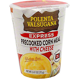 Valsugana Polenta Express Pre-Cooked Corn Meal W Cheese  , 2.47 oz