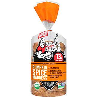 Dave's Killer Bread Pumpkin Spice Madness Organic Bagels, 16.75 oz