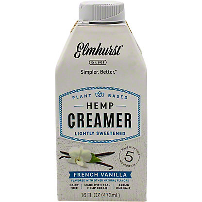 Elmhurst Creamer Hemp French Vanilla, 16 oz