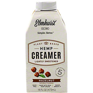 Elmhurst Creamer Hemp Hazelnut, 16 oz