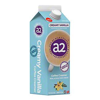 a2 Creamy Vanilla Coffee Creamer, 1 qt
