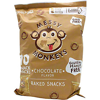 Messy Monkeys Chocolate Baked Snack Multipack, 10 ct