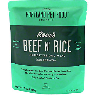 Portland Pet Food Company Beef N Rice Dog Meal , 9 oz