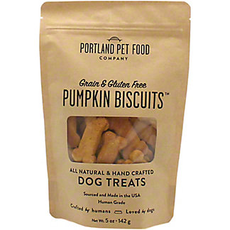Portland Pet Food Company Pumpkin Biscuit Dog Treat , 5 oz