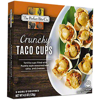 Perfect Bite Co. Crunchy Beef Taco Cups, 9 ct, 4.5 oz