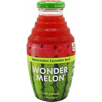 Wonder melon Wondermelon Juice Watermelon Cucumber Basil, 8.45 oz
