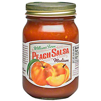 Williams Farm Hatch Peach Salsa Medium, 16 oz