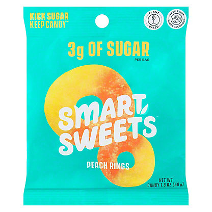 Smart Sweets Candy Peach Rings, 1.80 oz