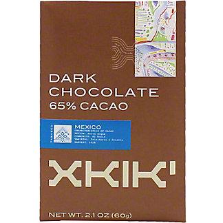 Xkik Dark Chocolate 65% Cacao, 2.1 oz